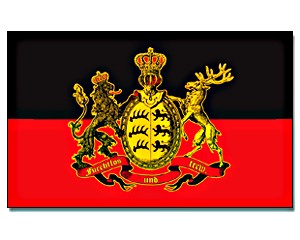 Flagge Württemberg - furchtlos und treu. 90 x 150