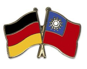 Freundschaftspins Deutschland-Taiwan