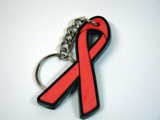 Schlüsselanhänger AIDS Schleife