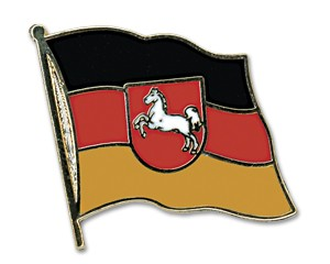 Flaggen-Pins Niedersachsen (geschwungen)