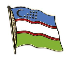 Flaggen-Pins Usbekistan (geschwungen)