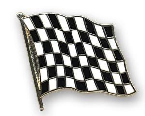 Flaggen-Pins Zielflagge (geschwungen)