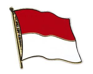 Flaggen-Pins Indonesien (geschwungen)