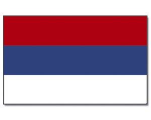 Stock-Flagge Serbien 30 x 45