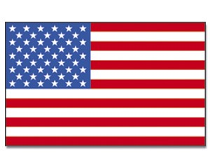 Stock-Flagge USA 30 x 45