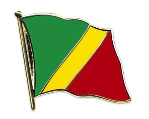 Flaggen-Pins Kongo, Republik (geschwungen)