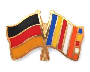 Freundschaftspins Deutschland-Buddhismus