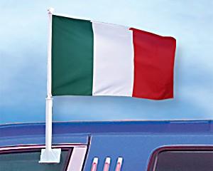 Autoflagge Italien 27 x 45