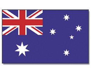 Stock-Flagge Australien 30 x 45