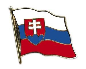 Flaggen-Pins Slowakei (geschwungen)