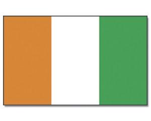 Stock-Flagge Côte d'lvoire (Elfenbeinküste) 30 x 45