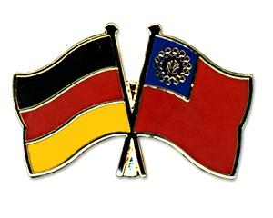 Freundschaftspins Deutschland-Myanmar