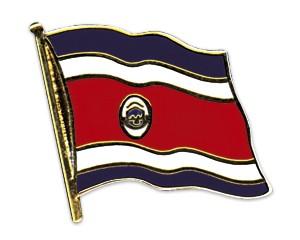 Flaggen-Pins Costa Rica (geschwungen)