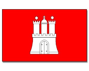 Flagge Hamburg 90 x 150