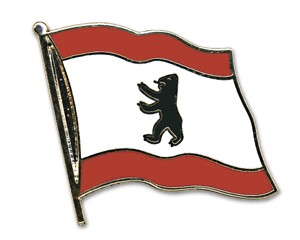Flaggen-Pins Berlin (geschwungen)
