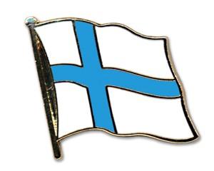 Flaggen-Pins Finnland (geschwungen)