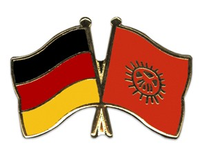 Freundschaftspins Deutschland-Kirgisistan