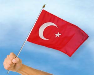 Stock-Flagge Türkei 30 x 45