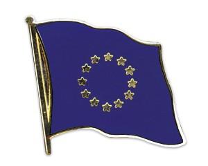 Flaggen-Pins Europa (geschwungen)