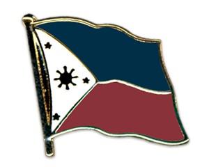 Flaggen-Pins Philippinen (geschwungen)