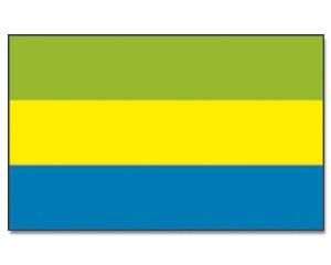 Flagge Gabun 90 x 150