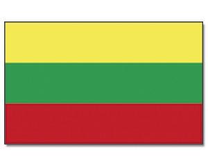 Stock-Flagge Litauen 30 x 45