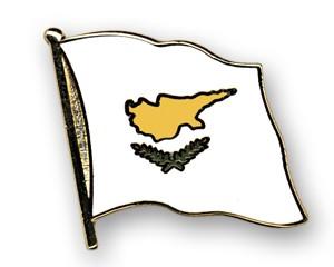 Flaggen-Pins Zypern (geschwungen)