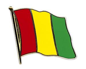 Flaggen-Pins Guinea (geschwungen)