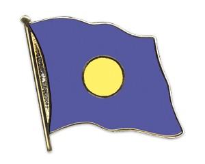 Flaggen-Pins Palau (geschwungen)