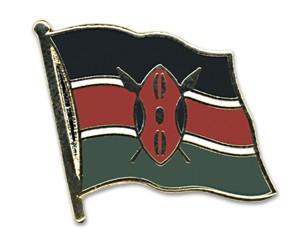 Flaggen-Pins Kenia (geschwungen)