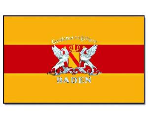 Flagge Baden mit Wappen 90 x 150